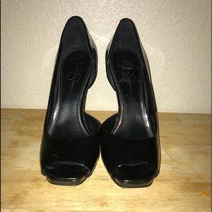 Jessica Simpson Josette D'Orsay open toe pumps